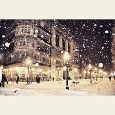 Snow in Belgrade, Serbia