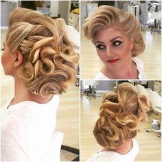 hair on Somegram Fancy Hairstyles, Bride Hairstyles, Vintage Hairstyles, Textured Hairstyles, Competition Hair, 1920s Hair, Vintage Wedding Hair, Wedding Hair Inspiration, Hair Affair