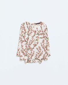 Image 5 of ASYMMETRICAL PRINT TOP from Zara