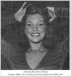 """Adriana Barcellos. Coluna """"Baby"""" do A Crítica de 06 de outubro de 1980."""