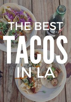 Angelenos take their tacos very seriously—if your tortillas are insipid or your carnitas are dry, you don't stand a chance in this town. But luckily, for those looking to go on a Master of None-style quest for the best tacos in Los Angeles, there are more trucks, restaurants and shacks serving them up than you could sample in a month, let alone a day. To help you out, we've picked eight of our faves to guide your journey. Vamos!