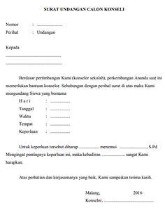 Surat Undangan Calon Konseling (Bimbingan Konseling)