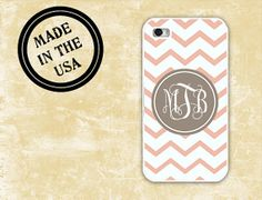 iPhone 5 case  Chevron or zigzag pattern monogram by ToGildTheLily, $13.99