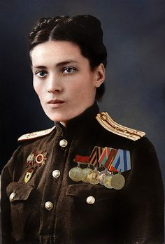 Female Captain in Medical Services of the Soviet army, 1945. A woman such as this one saved one of my aunt's life as a child. She also shot dead two of her own who raped a local woman and warned the rest the same awaited them if anyone else touched a single girl or woman in the village or anywhere else.