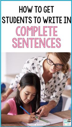 """Why does writing in complete sentences seem like such a grueling task? I'm sure you've heard students say, """"Do we have to write in complete sentences?"""" Learn effective teaching strategies to help even your most reluctant writers. These tips will guide you Teaching Strategies, Teaching Writing, Writing Activities, Teaching Ideas, Writing Ideas, Writing Resources, Writing Strategies, Writing Practice, Student Teaching"""