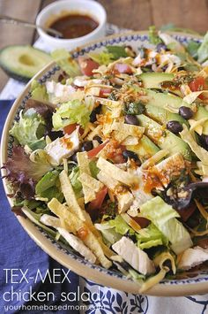 Tex-Mex Chicken Salad from yourhomebasedmom.com