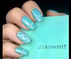 Tiffany and co inspired Nail Art Designs How To With Art Design About Cute Beginners Nails | via Tumblr