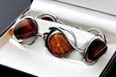 Amber Link Bracelet Cognac Silver Bracelet Baltic Amber Amber Ring, Amber Bracelet, Amber Jewelry, Stone Bracelet, Stone Earrings, Stone Necklace, Silver Pendants, Stone Pendants, Silver Necklaces