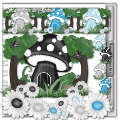 GJ-CU Mushroom house mix 4 FS [GJ-CU Mushroom house mix 4 FS] : Scrap and Tubes Store, Digital Scrapbooking Supplies