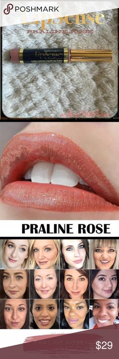 LipSense PRALINE ROSE Long Lasting Lip Color   LipSense PRALINE ROSE Long Lasting Lip Color  SOLD OUT ONLINE The premier product of Senegence, LipSense lasts all day – up to 18 hours. It is water-proof, kiss-proof, smudge-proof, and completely budge-proof. LipSense comes in a variety of captivating colors and can be layered to produce your own custom look.  I am not a consultant… But I have used LIPSENSE for 15 years and do not go a day without it! ❤️ LIPSENSE Makeup Lipstick