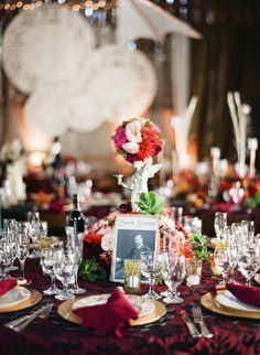 deep and rich decor. Steampunk Wedding, Victorian Steampunk, Wedding Themes, Wedding Decorations, Table Decorations, Geek Wedding, Wedding Day, Irish Wedding Traditions, Wedding Bouquets