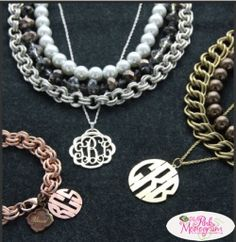 Fabulous sterling silver and fashion monogrammed jewelry line from one of our favorite designers, Heartstrings. Monogram Jewelry, Monogram Gifts, Personalized Jewelry, Family Jewels, Diamond Are A Girls Best Friend, Girly Things, Heartstrings, Jewelery, Monograms