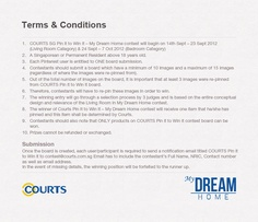 Terms & Conditions of Courts #MyDreamHome contest