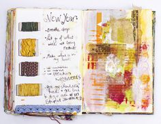 New Years' resolutions to ignore: journal page by grrl+dog