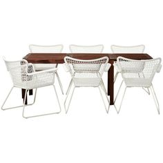 Äpplarö/Högsten Table and Six Chairs - contemporary - patio furniture... ❤ liked on Polyvore featuring home, outdoors, patio furniture, outdoor, outdoor garden furniture, outdoor patio furniture, contemporary outdoor furniture, contemporary patio furniture and outdoors patio furniture