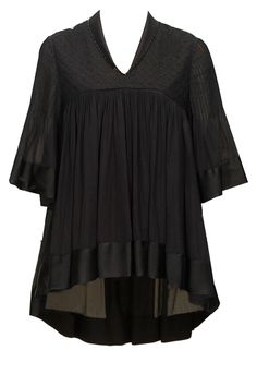 Black chikankari flared top available only at Pernia's Pop-Up Shop.