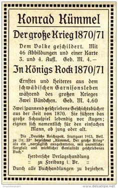 Original-Werbung / Anzeige 1913 -  KONRAD KÜMMEL / HERDERSCHE VERLAGSHANDLUNG - FREIBURG - ca. 60 x 100 mm