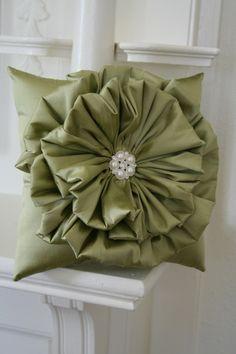 ruffle flower pillow