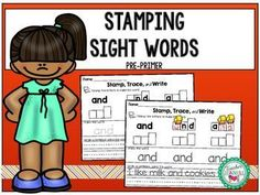 This packet is a fun way for students to practice and review sight words. Students will have fun stamping and tracing each sight word as well as using the word in a sentence. They will stamp the missing vowels, missing consonants, and then the entire word