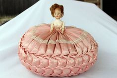 Vintage Pink Satin Bed Doll -- My Mom had one similar to this...we called it a pillow doll...Pat