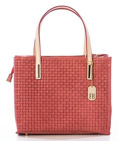 Another great find on #zulily! Fuxia Woven Leather Tote #zulilyfinds