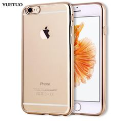 Silicon case for apple iphone7 iphone 7 / 7 plus 7plus case transparent clear Silicone tpu Cover phone Luxury rose gold Soft