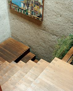 staircase details. Ray Kappe House in Los Angeles.