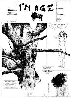I'm Age, la serie filosófico-surrealista de Jeff Jones estructura en historias de una página y publicada entre 1981 y 1984 en la revista Heavy Metal, ha sido recopilada compelta en cinco entradas en Ragged Claws Network.