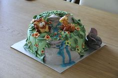 Safari Waterhole Celebration cake