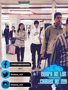 ¡LOS BEBES! ¡Angie y Nicola en el aeropuerto! #EquipoCobrasEEG