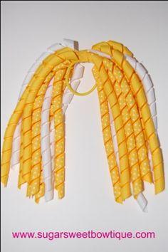 Yellow Korker Hair Streamer