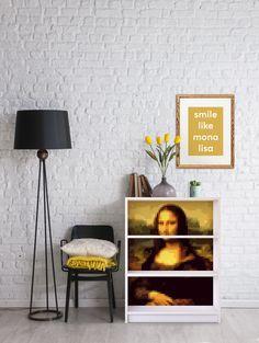 "Kunst auf deinem IKEA Billy Regal - Design ""Lona Misa""! #kunst #ikeahack #monalisa #leonardodavinci"