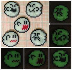 Boo! (Glow in the Dark Hama Bead Art) by SerenityFey.deviantart.com on @deviantART