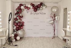 Белый виноградный серый шары арка свадьба студия гранд открытие  |  White grape grey balloon arh wedding studio grand opening