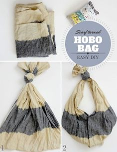 Upcycled Scarf to Hobo Bag by Jessica Abbott