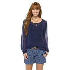 Women's Clip Dot Woven Top - Kit and Sky