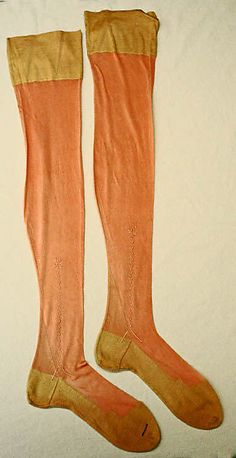 1920s. I can't keep stockings intact for more than a season or the run of a show. I haven't a clue how someone kept these pristine for 90 years!