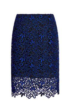 Giupure Lace Skirt by Oscar de la Renta
