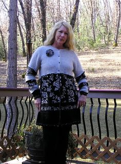 Recycled Sweater Coat Upcycled and by VintageDesignByVines on Etsy, $59.00