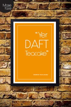 Yorkshire Quote Poster 5 £12.00