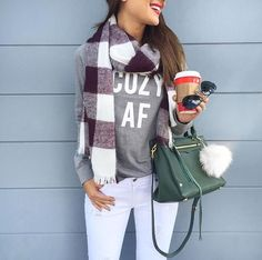 Cozy AF #winter #outfit #style #fashion