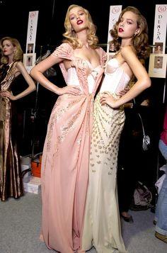deus-e-x-machina:    Toni Garrn and Heloise Guerin at Christian Dior SS 10
