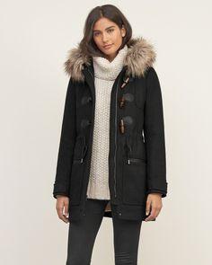 Womens Hooded Wool Duffle Jacket   Womens Outerwear & Jackets   Abercrombie.com