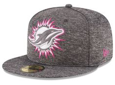 Miami Dolphins New Era 2016 Breast Cancer Awareness Sideline Fitted Hat -  Heather Gray e7fd2a2d3a501