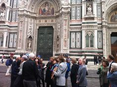 The KUSC Italian tour continued Monday with a walking tour of Florence, beginning with the Duomo.