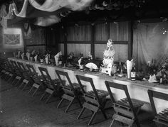 Waiting for the wedding reception to begin, Pittsworth, ca. 1915 state librari, wedding receptions, recept inspir, barn, weddings, 1915, parti idea