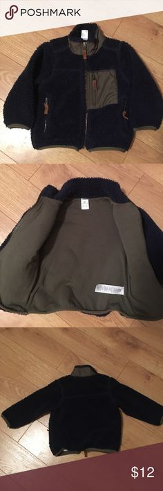 Carter's Toddler Navy and Dark Green/Khaki Jacket GUC Lightweight Fleece Jacket. Navy blue and hunter green/khaki. All zippers in tact and working. Normal wear and tear. Smoke and pet free home. Thanks for looking. Bundle and save. Carter's Jackets & Coats