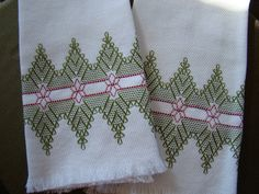 Swedish Weaving also known as Huck Weaving by FuzzyDuckCreations, $25.00
