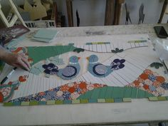 Mosaico sobre malla