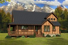 Looking for Mountain Rustic House Plans? America's Best House Plans offers the largest collection of quality rustic floor plans. House Plan With Loft, Cottage Style House Plans, Rustic House Plans, Cabin House Plans, Southern House Plans, House Plans One Story, Modern Farmhouse Plans, Cottage Style Homes, Dream House Plans